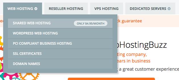 WebHostingBuzz menu