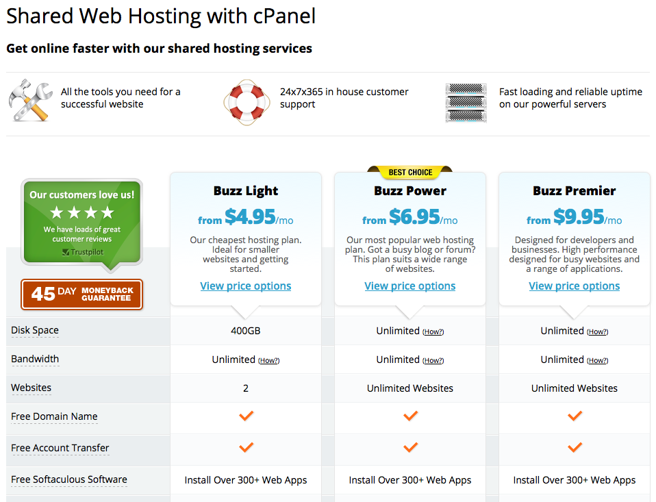 WebHostingBuzz web hosting